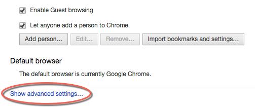 Enabling Flash for Google Chrome